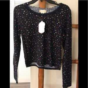 ALTAR'D STATE LONG SLEEVE CROPPED TOP NEW